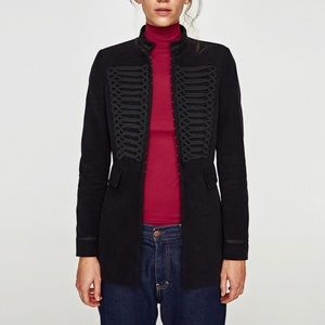Zara Moleskin Frock Jacket - Velvet Military Coat